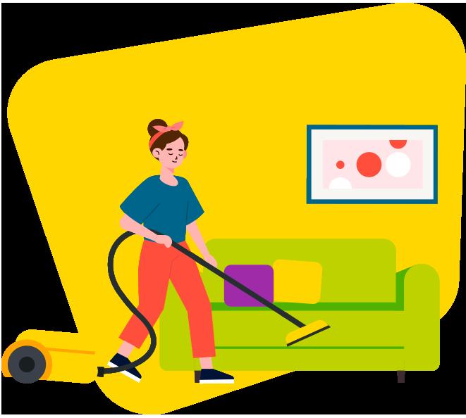 Services de ménage aux particuliers